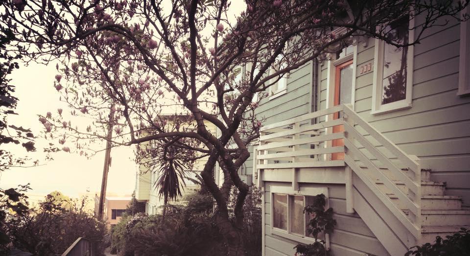 Här, i huset med den brandgula dörren, på Telegraph Hill i San Fransisco ska jag bo när jag blir stor.
